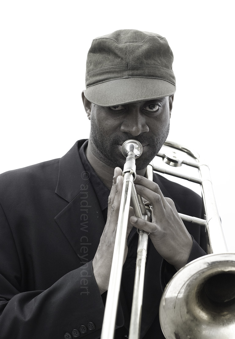 Trevor Edwards, Jazz Trombonist, photograph, image ,portrait